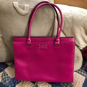 Kate Spade Pink Leather Tote